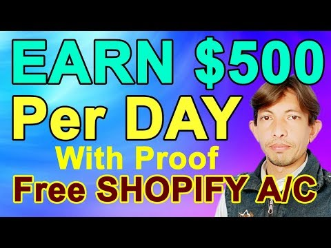 Earn $500 Per Day | How To Create An Online Store With Shopify (Urdu/Hindi) 2019-2020 thumbnail
