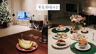 vlog #2 하프셸 오이스터 록펠러(굴 그라탕) 겨울…