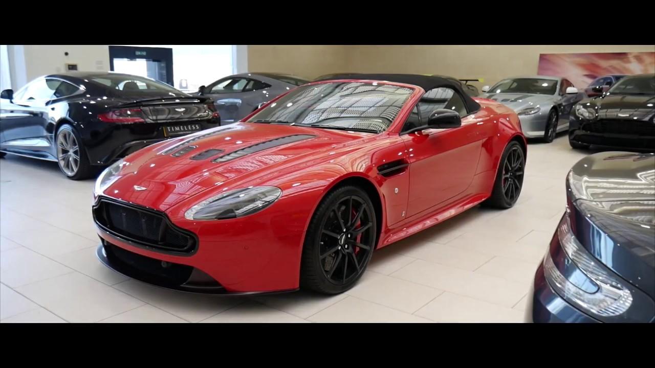 Red Carbon Aston Martin Vantage V12 S Roadster Cold Start Revs Interior And Exterior Walkaround Youtube