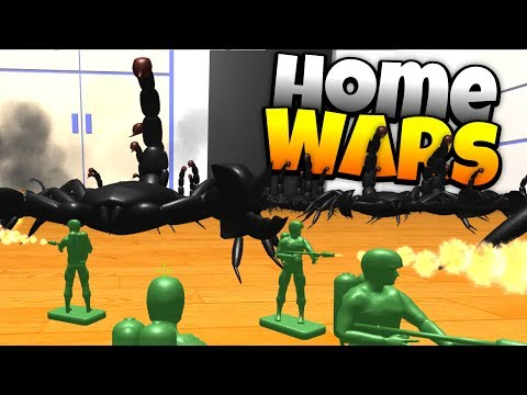 Flamethrowers Vs. Emperor Scorpions! - Home Wars Gameplay
