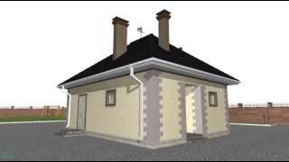 Типовой проект маленького одноэтажного дома A-062-ТП
