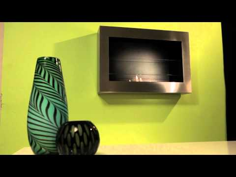 Anywhere Fireplace - SoHo in Stainless Steel Wall Mount Ethanol Fireplace