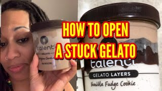 How to open a Stuck Talenti Gelato • I CAN'T BELIEVE THIS WORKED! 🤯