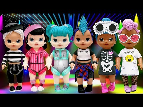 Play Doh NEW L O L Surprise Doll  Baby Alive Outfits Punk Boi Glamstronaut Beatnik Babe