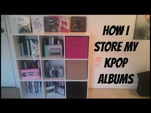 HOW I STORE MY KPOP ALBUM COLLECTION!