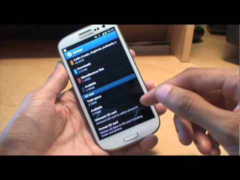 Samsung Galaxy S3: How to Install & Format a Micro SD Card (SIII, i9300)