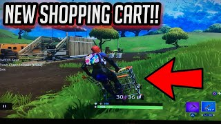 *NEW* SHOPPING CART GAMEPLAY! + LOCATION-Fortnite: Battle Royale!