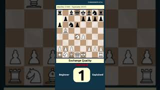 Exchange of Quality – akashiss Esperanto #chess #shorts
