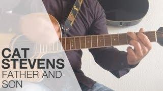 Anleitung: Intro von Father And Son spielen / Cat Stevens - Gitarre für Anfänger/ Gitarre lernen