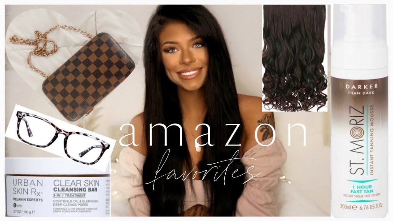 AMAZON MUST-HAVES | self tanner, skincare, hair extensions, LV dupe & more