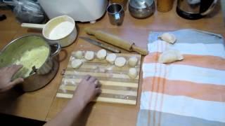 Семья Бровченко. Вареники с картошкой. Тесто и начинка. Рецепт.