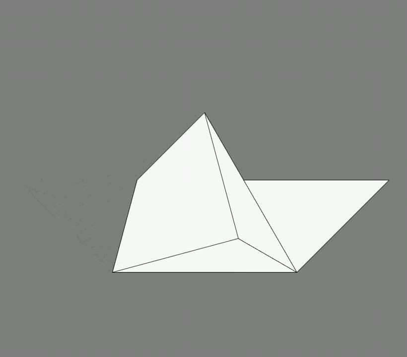 Оригами схема сборки кошка