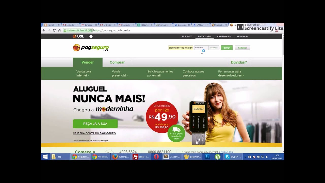 4e58f0f5d Configurando o Agendamento Online - Pagamento via PagSeguro - YouTube