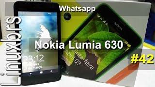 Nokia Lumia 630 WP 8.1 - Whatsapp (explicação) - PT-BR - Brasil