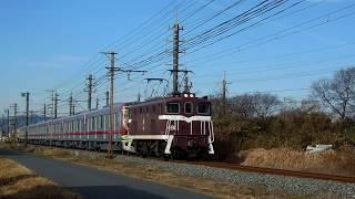 秩父鉄道デキ505牽引 東武70000系 71707F編成甲種輸送