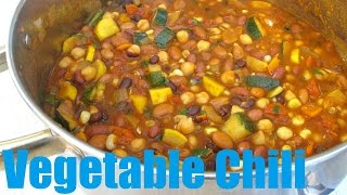 Vegetable Chili - 100% Vegetarian Chili Recipe - PoorMansGourmet