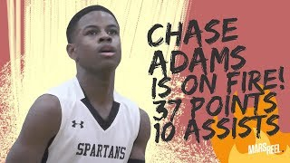 CHASE ADAMS CATCHES FIRE! SCORES SEASON-HIGH 37 POINTS AND 10 ASSISTS!