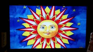 Marla's Patriotic Sun Artwork On Cbs Sunday Morning Show With Charles Osgood