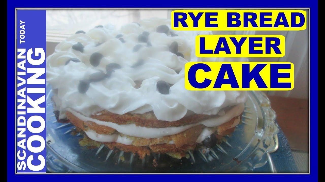 Rye Bread Layer Cake Recipe Rugbrødslagkage Youtube