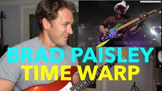 Guitar Teacher REACTS: BRAD PAISLEY Time Warp (Live On Letterman)
