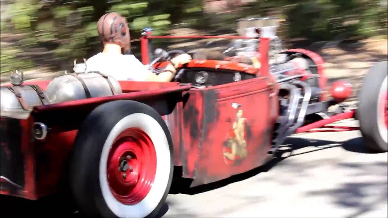 Red Rat Rod Roadster Drive And Walk Around 1931 Ford