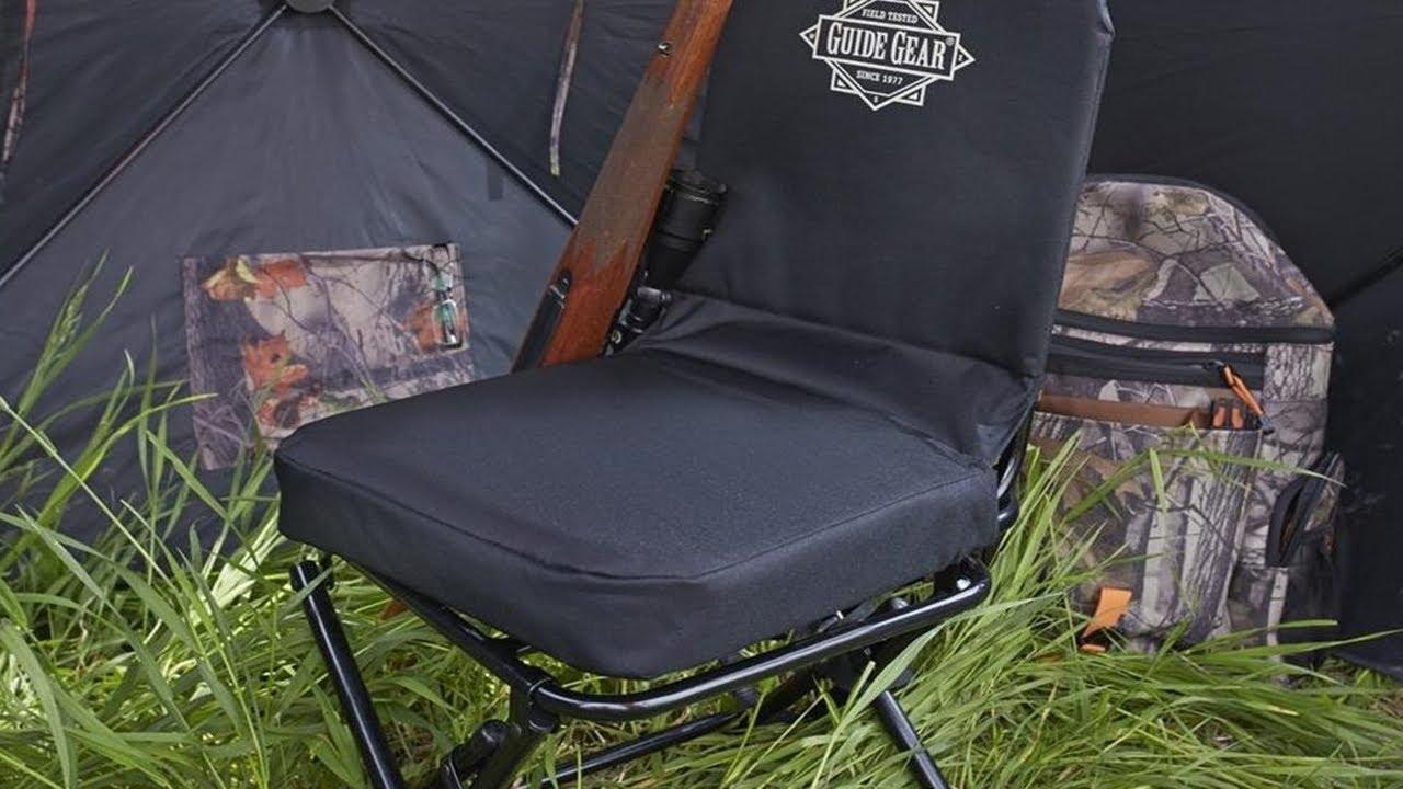 brown full sporting hunt swivel chair goods hunter tough blinds rogers blind
