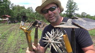 Weed Control - NO GIMMICKS!  Garden Tool Comparison  Simple ORGANIC WEED CONTROL BUILDS SOIL!