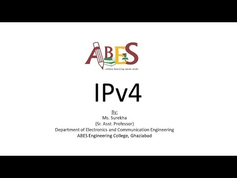 IPv4 (Internet Protocol version 4) by Ms. Surekha [Data Comm