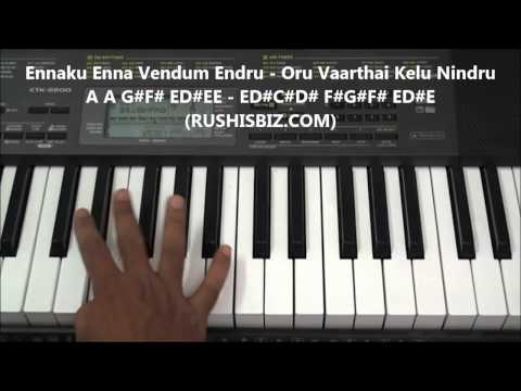 Unakkenna Venum Sollu - Piano Tutorials - Manasuna Edho Raagam