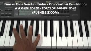 Unakkenna Venum Sollu | Manasuna Edho Raagam - Piano Tutorials | 600 NOTES - 7013658813 - WHATSAPPUS