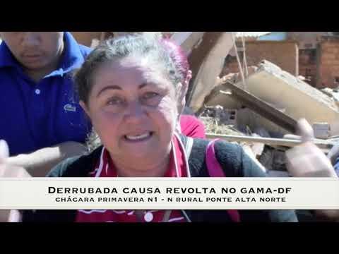 Derrubada Causa Revolta No Gama-DF