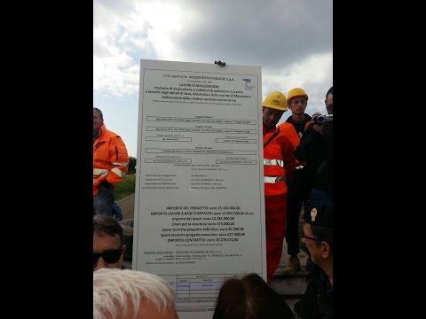 Depuratore Specchiarica: al via lavori di recinzione cantiere tra le proteste
