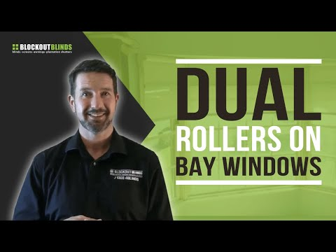 Can you put dual roller blinds on a bay windows