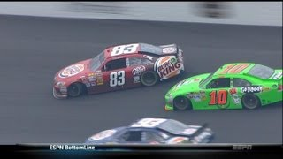 Danica Patrick Tries to wreck Landon Cassill Kansas