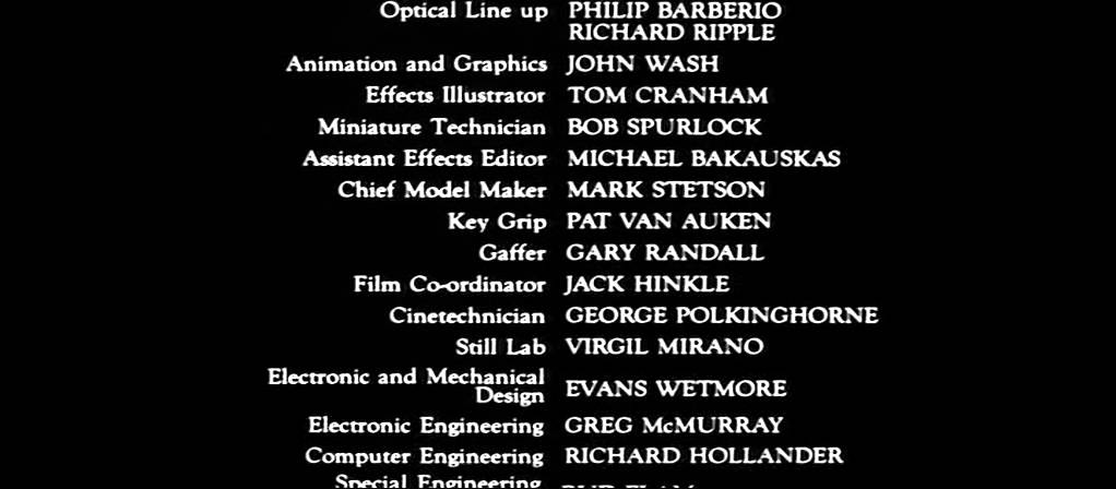 Blade Runner - Full End Titles End Credits Cast u0026 Crew ...