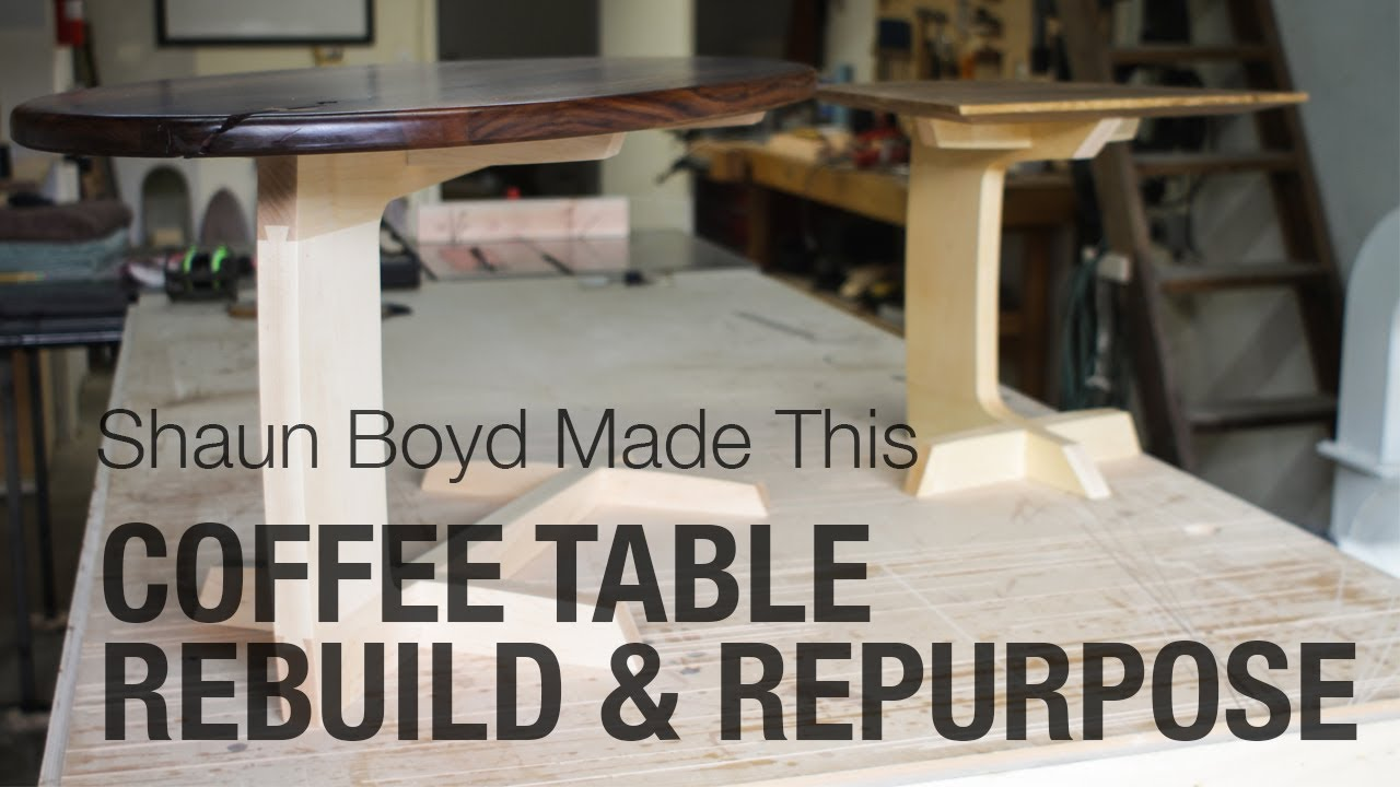 Modern Coffee Table Rebuild Repurpose Shaun Boyd Made This