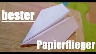 wie man den BESTEN Papierflieger der Welt faltet
