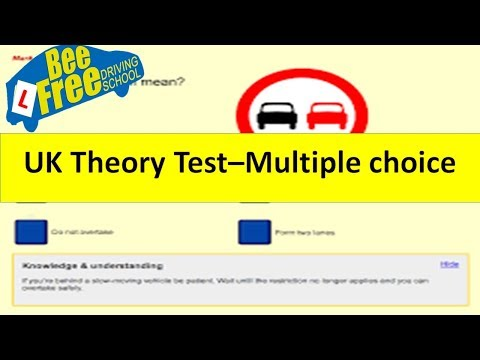 UK Driving Theory Test 2018│ PT1 - Multiple Choice Question Tips