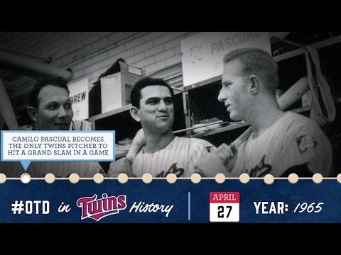 April 27, 1965: Pitcher Pascual hits a grand slam