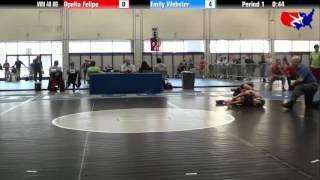 Opelia Felipe vs. Emily Webster at 2013 Las Vegas/ASICS U.S. Open