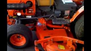 Kubota B7100 Tractor with Mower Deck for Sale on EBAY