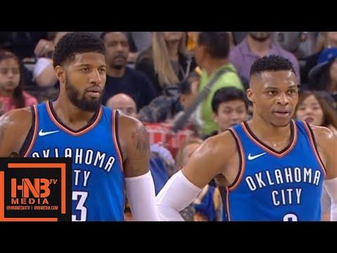 Golden State Warriors vs Oklahoma City Thunder 1st Half Highlights / Feb 6 / 2017-18 NBA Season
