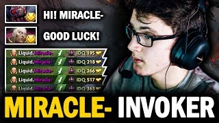 MIRACLE- INVOKER vs BROODMOTHER MID + Mind_ControL Leshrac - INCREDIBLE GAMEPLAY | Dota 2 Invoker