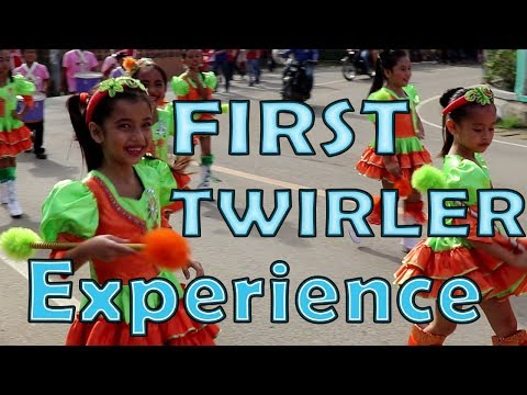 FIL-AM GIRL PARADE AS A TWIRLER in the Philippines! -SEVENTH DAY ADVENTIST SCHOOL PHILIPPINES