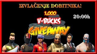 📽LIVE📽 FORTNITE - France Izvlacenje pobednika oko 20:00h! [GIVEAWAY - 2000 V-Bucks ]