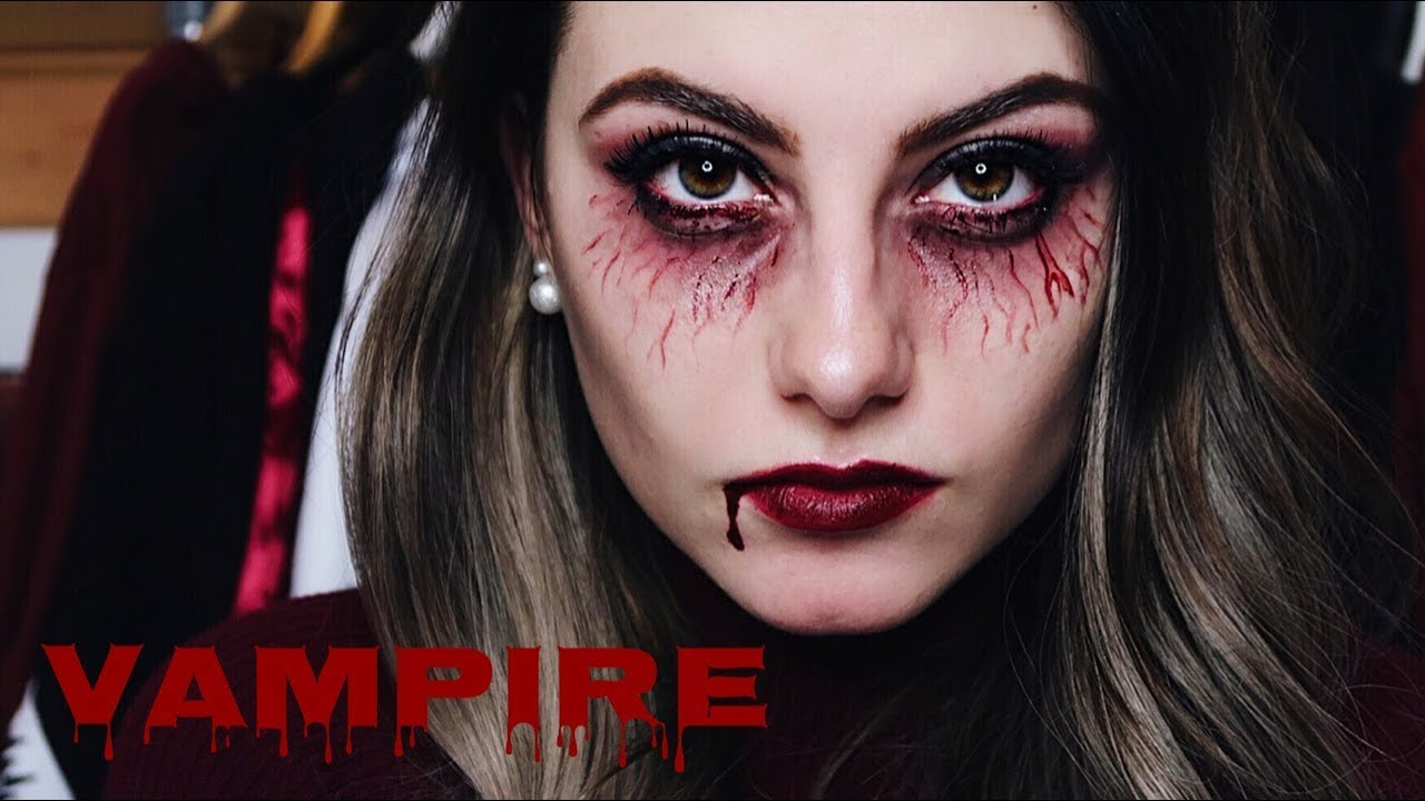 Halloween Schminke Deutsch.Vampire Halloween Make Up Look Missnici Youtube