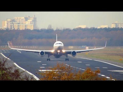 Face to Face! UNITED Boeing 767-300WL Takeoff from Berlin Tegel Airport (TXL) [Full HD]
