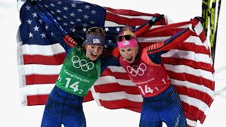 US cross-country skiers win historic gold medal