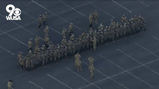 National Guard troops run drill ahead of Inauguration