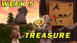Follow the treasure map found in Anarchy Acres Fortnite Week 5 Challenge Location Battle Royale